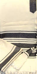 Carmel Wool Tallit - Black Stripe