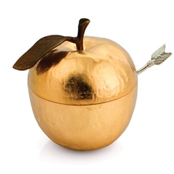 Apple Honey Pot Goldplate by Michael Aram