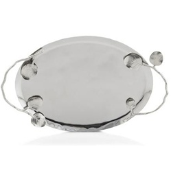 Botanical Leaf Oval Tray Medium by Michael Aram