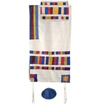 Yair Emanuel Multicolor Shapes Tallit Set