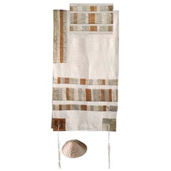 Yair Emanuel Gold Shapes Tallit Set
