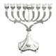 Nickel Plated Menorah