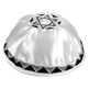 White Satin Star Kippah