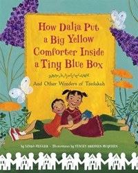 How Dalia Put a Big Yellow Comforter Inside a Tiny Blue Box (Hardcover)