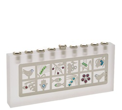 Seven Species Crystal Menorah