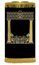 Jerusalem Pillars Torah Cover/Mantel