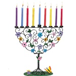 Flowering Tree Menorah