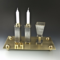 Prayer Collection Shabbat Set with Tray by Joy Stember