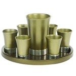 Anodized Aluminum Kiddush Cup Set by Emanuel