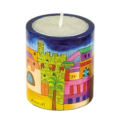 Jerusalem Memorial Candle Holder by Emanuel