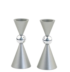 Aluminum Candlesticks by Agayof