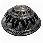 Satin Kippah with Yemenite Stitching