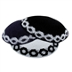 Knit Kippah with Border
