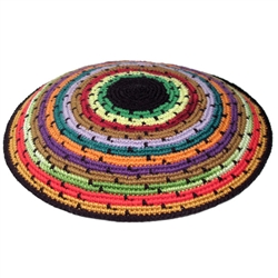 Colorful Circles Knit Kippah