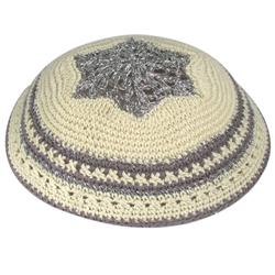 Women's Knit Kippah - Gray