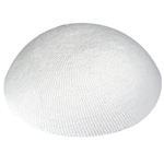 White Knit Kippah