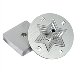 Anodized Aluminum Star Cut Dreidel