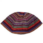 Colorful Striped Bucharian Style Silk Kippah