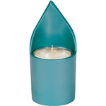 Anodized Aluminum Memorial Candle Holder - Teal