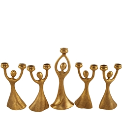 Joyous Dancers Menorah by Quest