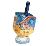 Noah's Ark Wooden Dreidel with Stand by Emanuel