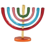 Colorful Anodized Aluminum Classic Menorah by Emanuel