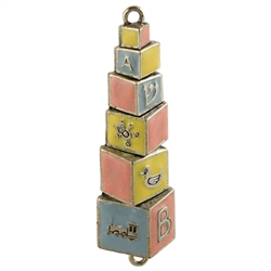 Baby Blocks Mezuzah by Quest