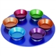 Colorful Anodized Aluminum Seder Plate by Emanuel
