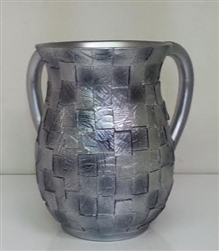Acrylic Wash Cup Squares Silver