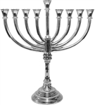 Nickel Finish Menorah