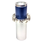 Anodized Aluminum Salt Shaker silver / blue by Dabbah