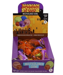 Jerusalem of Gold Milk Chocolate Multicolored (Nut free) Gelt