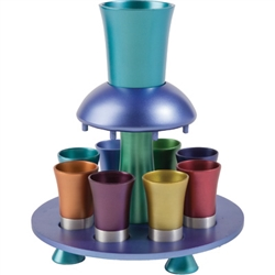 Anodized Aluminum Kiddish Fountain Multicolor (Yair Emanuel)