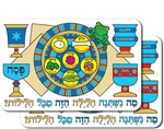 Plastic Passover Placemats - Set of 2