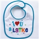 """I Love You a Latke"" Bib"