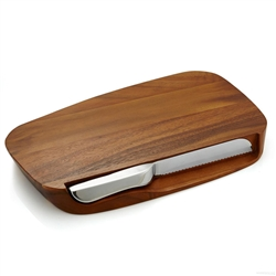 Nambe Blend Bread Board with Knife