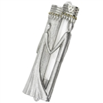 Wedding Glass Couple Mezuzah