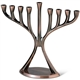 Antique Copper Finish Modern Menorah