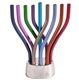 Colorful Rotating Menorah with Hammered Base by Emanuel