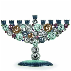 Swirls and Twirls Menorah by Quest