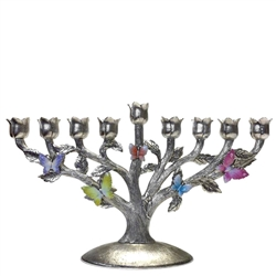 Butterfly Forest Menorah by Quest