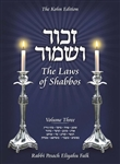 Zachor V'Shamor: The Laws of Shabbos, Vol. 3