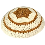 Women's Knit Kippah - Gold