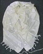 Tallit - Traditional Prayer Shawl White on White