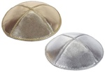 Leather Lame Kippot with Custom Imprinting