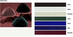 Bulk 4-Panel Velvet Kippot - No Imprinting