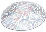 Bulk Leather Foil Embossed Kippot - No Imprinting