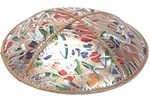 Bulk Leather Foil Embossed Kippot (FL104) - No Imprinting