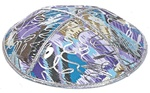 Bulk Leather Foil Embossed Kippot (FL105) - No Imprinting