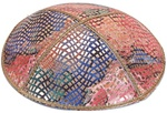 Bulk Leather Foil Embossed Kippot (FL107) - with Custom Imprinting